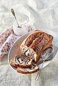 Marbled gingerbread loaf