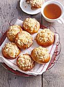 Poppy seed cakes made from yohgurt dough