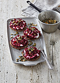 Marinated beetroot with thyme