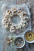 Meringue Easter wreath