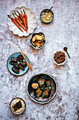 Selection of Middle Eastern and Lebanese Meze