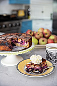 Apple blueberry coffee cake