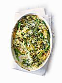 Maccheroni and Cheese mit grünen Bohnen und Kürbiskernen