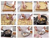 Preparing fried sweets