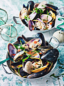 Mussels and Pipis with Ginger and Lime
