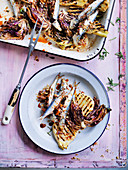 Baked Sardines with Fig and Pine Nut Stuffing