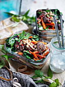 Tamarind Beef with Kohlrabi Salad