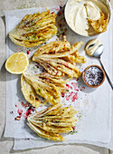 Salt and pepperberry witlof with anchovy mayonnaise