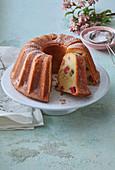 Rhubarb fancy bread