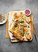Asiatische Frühlingsrollen aus dem Ofen