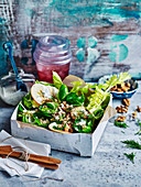 Barley and Brussels Sprout Waldorf Salad
