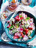 Watermelon, Radish and Smoked Fetta Salad