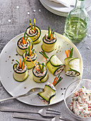 Zucchini rolls with French spread