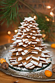 Christmas tree made of gingerbread stars