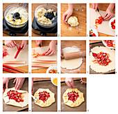 Rhabarber-Erdbeer-Galette zubereiten