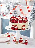 Santa ice-cream cake
