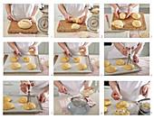 Baking drunken mini Easter buns