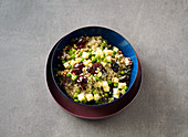 Fruity quinoa salad with grapes and alpine cheese