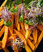 Sweet potatoes and shoots