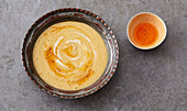 Mercimek corbasi – Turkish lentil soup with potatoes