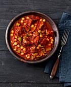 Etli nohut – chickpeas and beef stew (Turkey)