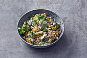 Quinoa salad with broccoli, sweetcorn and Greek yoghurt