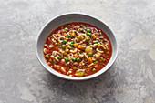 Tomatensuppe mit Gabelspaghetti