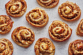 Pear and walnut pastries