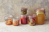 Preserves and pickles from the store cupboard