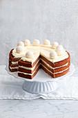 Creamy chocolate sponge cake