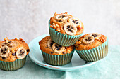 Bananenbrot-Muffins mit Zartbitterschokolade