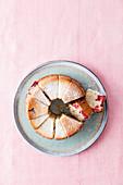 Vegan lemon and cherry Bundt cake
