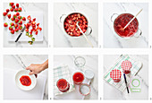Strawberry jam being made