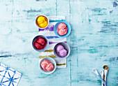 Colourful Balls Of Gelato Ice Cream