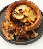 Beef and potato stuffed Yorkshire pudding