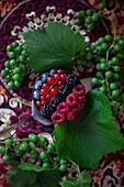 MIni summer berry tart
