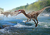 Baryonyx dinosaur, illustration