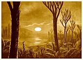 Life on Venus, early 20th century illustration