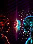 Quantum intelligence, conceptual illustration