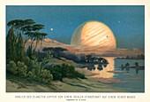 Jupiter from its moon Europa, 19thcentury illustration