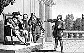 The Charlatan, allegorical illustration