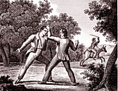 The Thieves and the Ass, allegorical illustration
