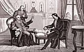 The Gout and the Spider, allegorical illustration