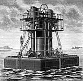Diving bell, 19th century illustration