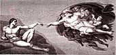 Michelangelo's 'Creation of Adam', illustration