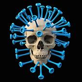 Coronavirus disease, conceptual illustration