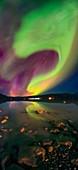 Aurora over Qaraliq, Greenland