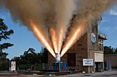 Orion spacecraft jettison motor testing