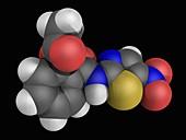 Nitazoxanide molecule, illustration