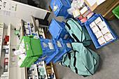 Returned drugs in a pharmacy